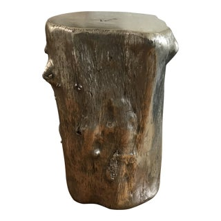 Rustic Log Accent Table