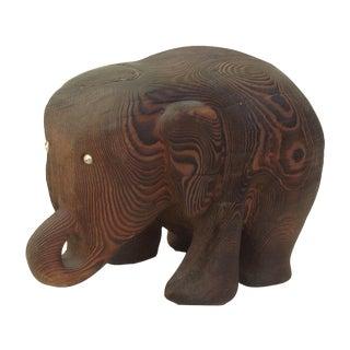 Hand Carved Cryptomeria Elephant