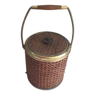 Mid-Century Lattice Style Ice Bucket