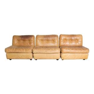 B&B Italia Amanta Sectional Leather Sofa