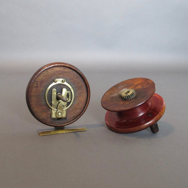 Image of Vintage Center Pin Nottingham Style Fishing Reel