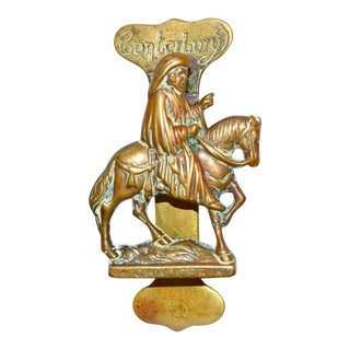 Chaucer on Horseback Door Knocker