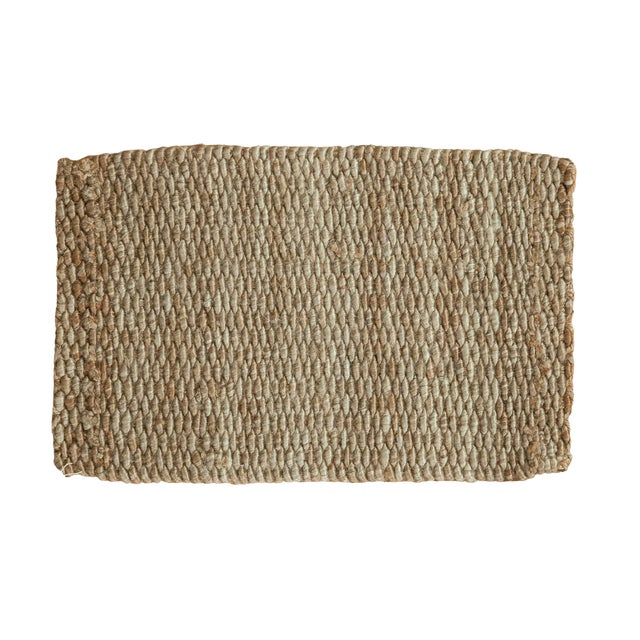 """Image of Hand Braided Grey Entrance Mat - 2' X 3'2"""""""
