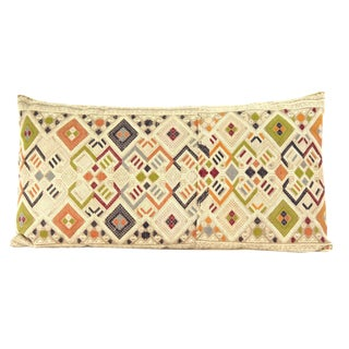 Vintage Laotian Textile Custom Pillow