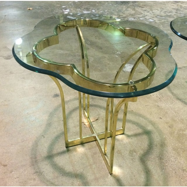 Vintage Brass Glass Coffee And End Table Chairish