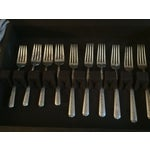 Image of 34-Piece Sterling Silver Rambler Rose Flatware