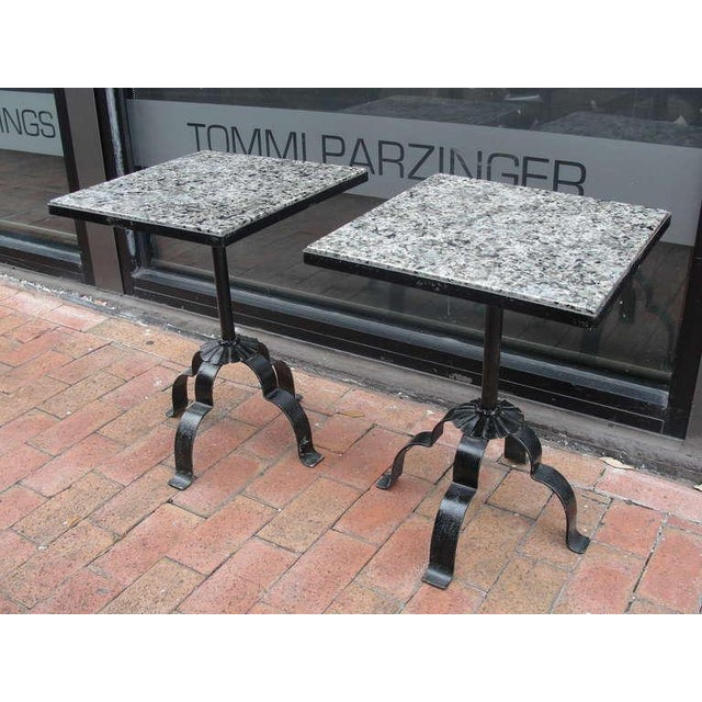 Pair of Wrought Iron & Granite Occasional Tables - Image 5 of 5