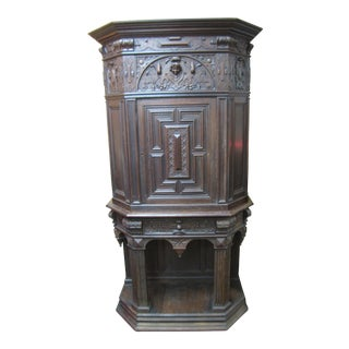 Antique Carved Cabinet Cupboard