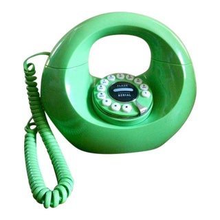 Mid-Century Style Green Doughnut Phone