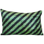 Image of Uzbek Silk Velvet Ikat Pillow