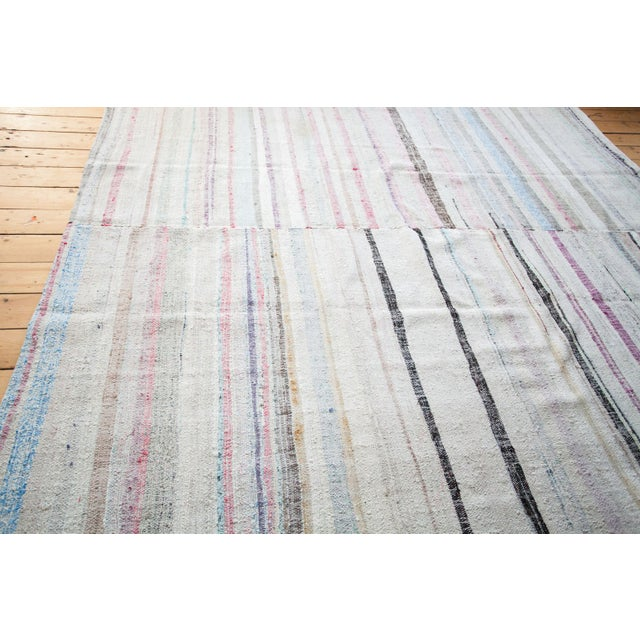 "Vintage Cotton Area Rag Rug - 7'10"" x 8'7"" - Image 2 of 9"