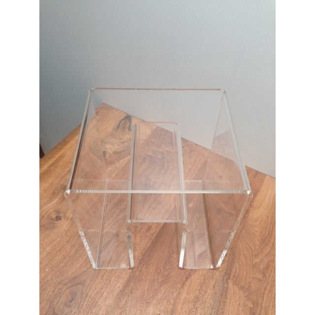 Image of Lucite Side Table for Magazines and Books
