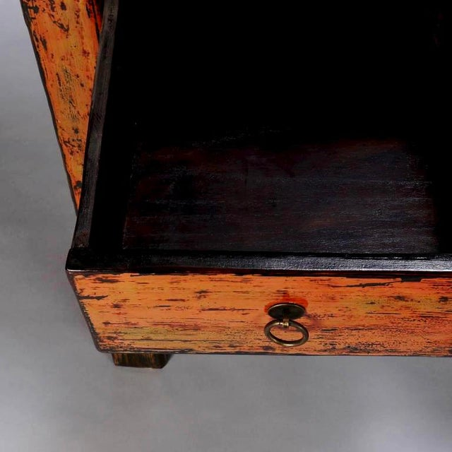 Chinese Painted and Lacquered Three-Drawer Console Table - Image 5 of 11