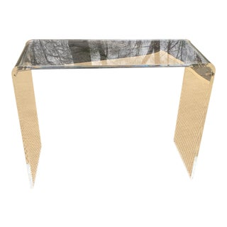 Lucite Waterfall Console Table