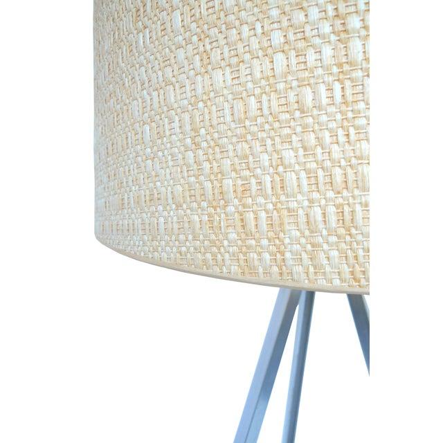 Aluminum & Wood Tripod Floor Lamp - Image 2 of 6