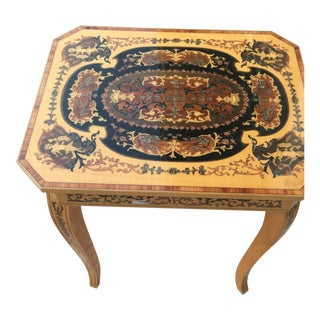 Italian Inlaid Musical Table