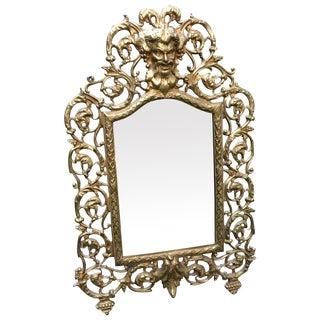 Victorian Brass Bacchus Mirror