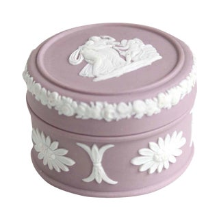Wedgwood Pink Trinket Jewelry Box