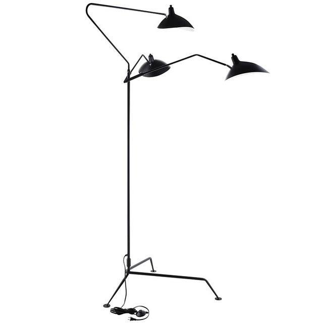 Serge Mouille Replica Black Steel Floor Lamp - Image 5 of 5