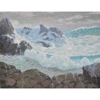 1968 Vintage California Coastal Landscape Painting