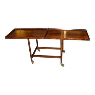 Poul Hundevad Danish Rosewood Serving Trolley