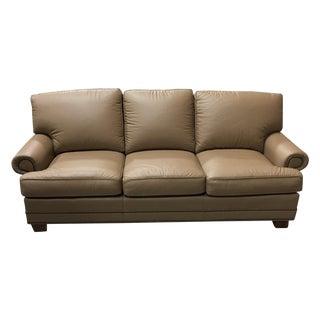 Leathercraft Tan Leather Sofa