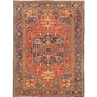 """Antique Persian Heriz Rug- 11'2"""" x 15'3"""""""