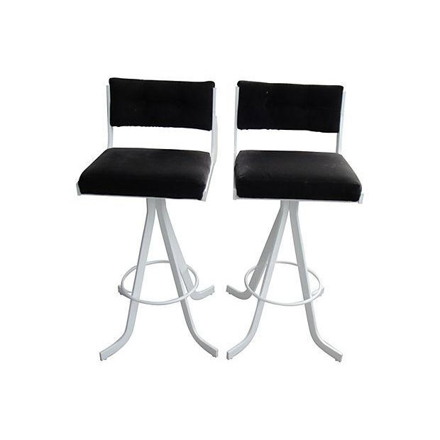 Mid-Century Bar Stools - A Pair - Image 1 of 5
