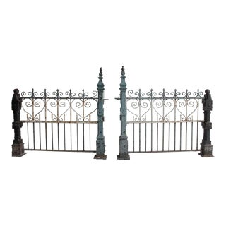 Custom Made Antique Cast Iron Fence