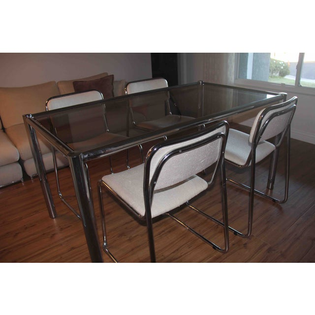 Milo Baughman Dining Set with Breuer Style Chairs - Image 4 of 9