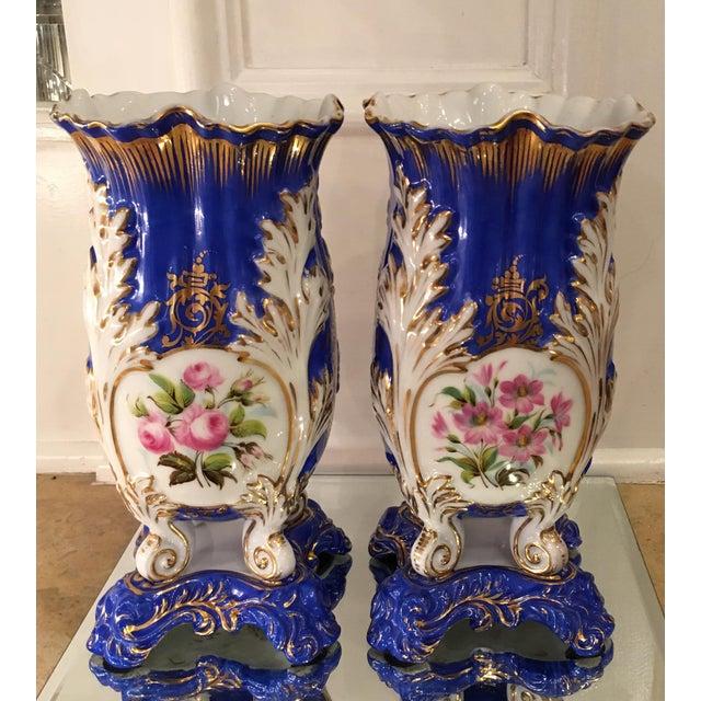 Antique Old Paris Porcelain Rococo Vases - A Pair - Image 5 of 5