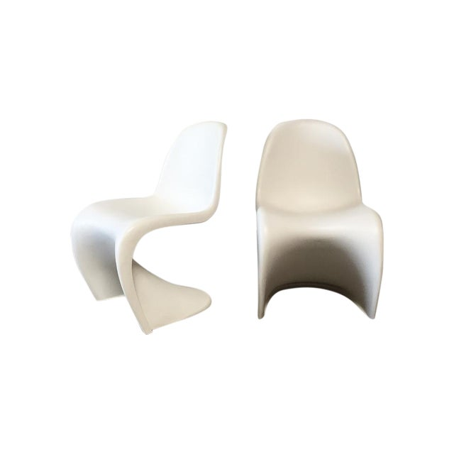 Image of Vitra White 'Panton' Dining Chair