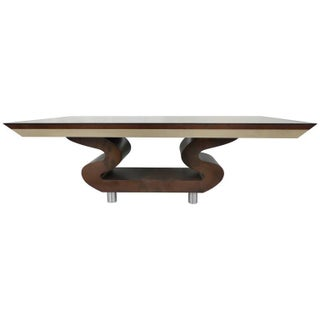 Lacquered Goatskin Dining Table in the Manner of Aldo Tura