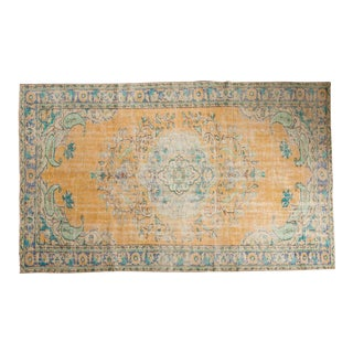 "Vintage Distressed Oushak Carpet - 5'11"" x 9'8"""