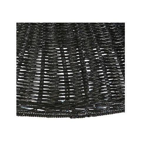 Black Wicker Hanging Pendant Lamp - Image 3 of 6