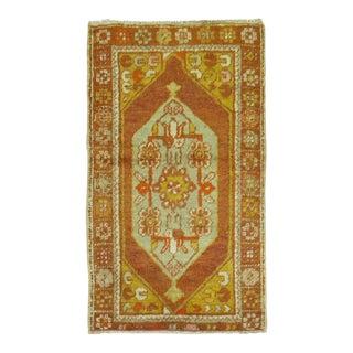 Vintage Turkish Rug, 2'6'' x 4'2''
