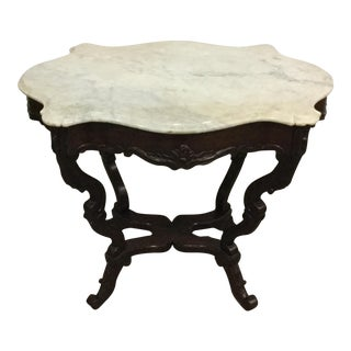 Antique Marble Top Center Table