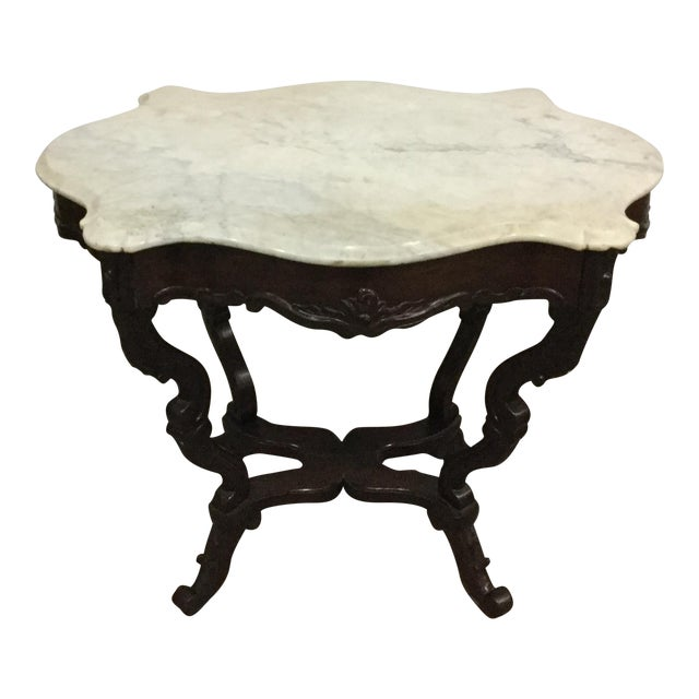 Antique Marble Top Center Table - Image 1 of 7