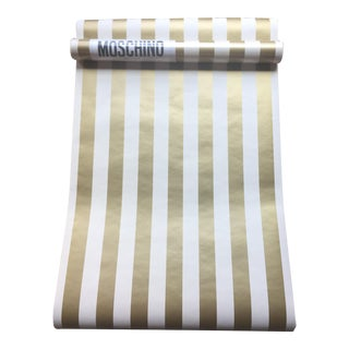 Vintage Moschino Gold Striped Wallpaper