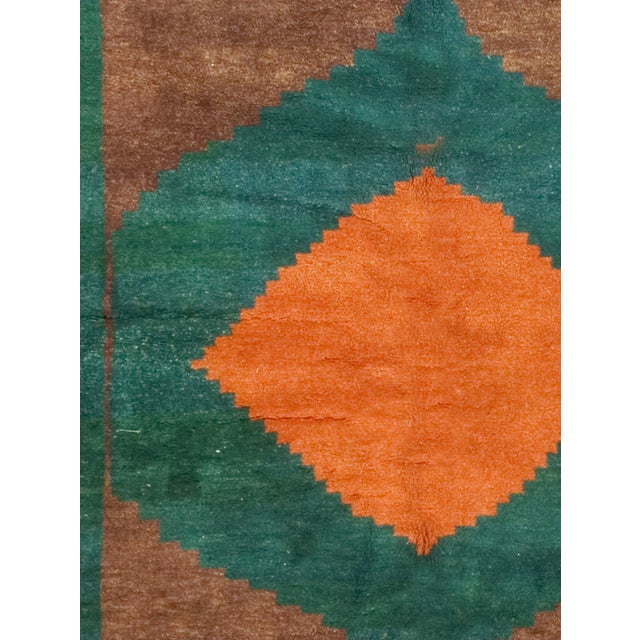 "Green, Brown & Orange Gabbeh Rug - 6'5"" X 7'2"" - Image 2 of 2"