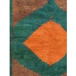 """Image of Green, Brown & Orange Gabbeh Rug - 6'5"""" X 7'2"""""""