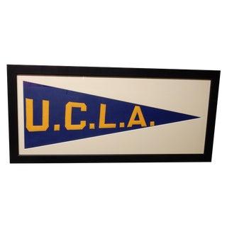 Framed 1930's UCLA Pennant