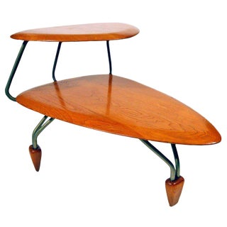 Rare John Keal Surfboard Side Table for Brown Saltman