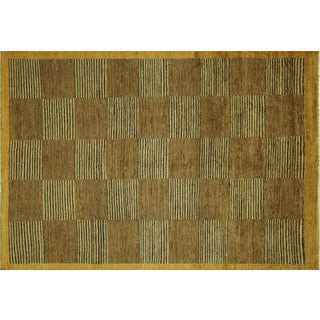 Checkered Design Multicolor Gabbeh Rug - 6' x 9'