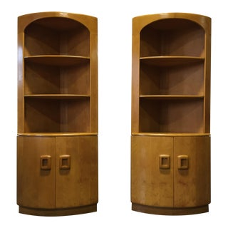 Heywood Wakefield Mid-Century Corner Cabinets-Pair