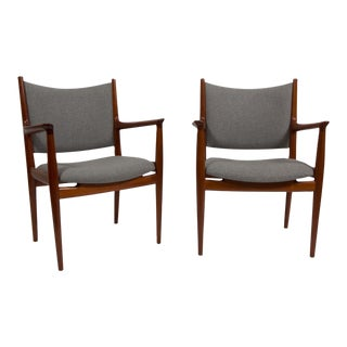 Pair of Hans Wegner Teak Armchairs