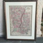 Image of Framed Antique Map Louisiana Arkansas Mississippi