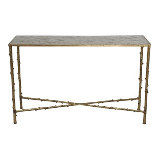 Mirror Top Metal Entryway Console