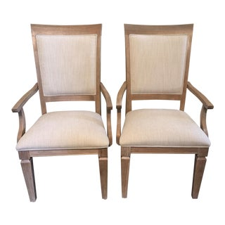 Contemporary Dining Arm Chairs- A Pair