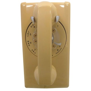 1973 Harvest Gold Wall Phone Rotary Dial